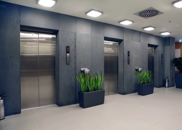 Refurbished lift doors